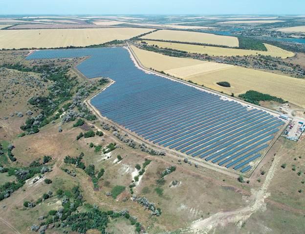 Запуск першої електростанції нового сонячного парку